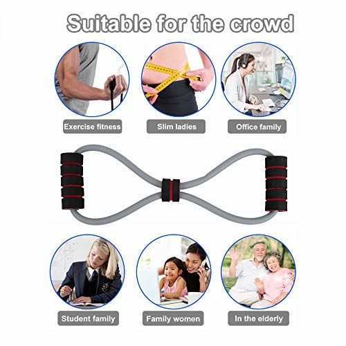 Xianco Total Body Fitness Stretch Body Toning and Stretching Travel Exercise Tube 8 Type Resistance Band Exercise Tube (Multi)