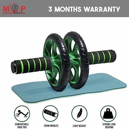 MCP Ab Roller/Abs Carver with Thick Knee Pad for Abdominal Workout Fitness Exercise Equipment (2 Wheel)