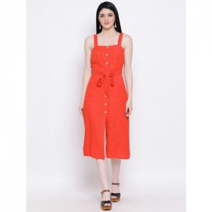 oxolloxo button-up tie front dress