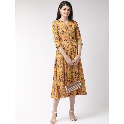 PLUSS floral a-line dress