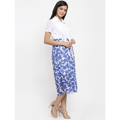 KASSUALLY tie front floral a-line dress