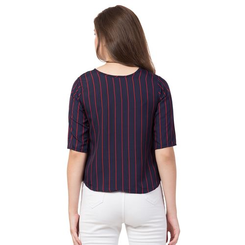 FAB FOREVER boat neck striped top