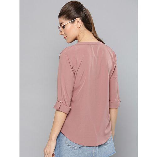 Harpa pink polyester regular top