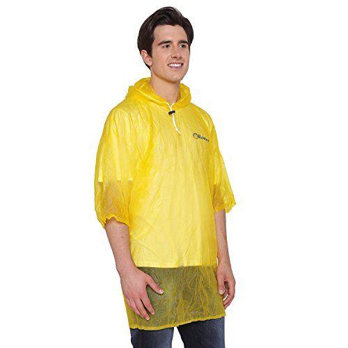 ZEEL RainTop Rainwear Unisex Ponchos (Mens) Yellow