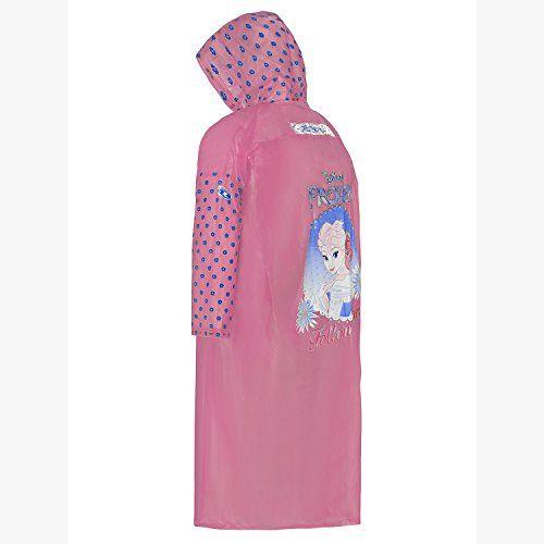 Zeel Polyester Frozen Printed Long button Raincot For Girl