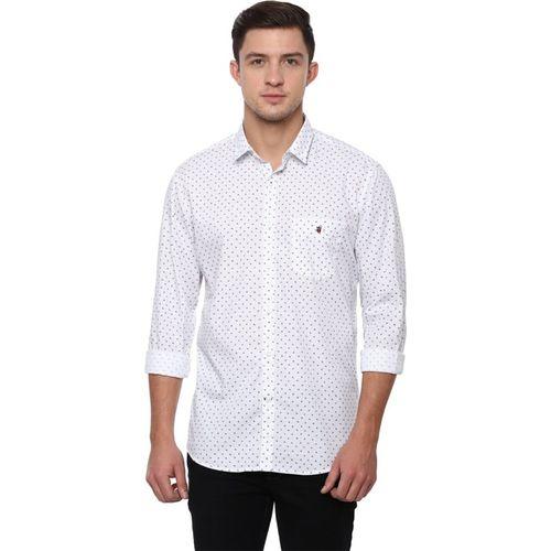 Louis Philippe Men Printed Casual White Shirt