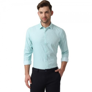 Louis Philippe Men Self Design Casual Blue Shirt