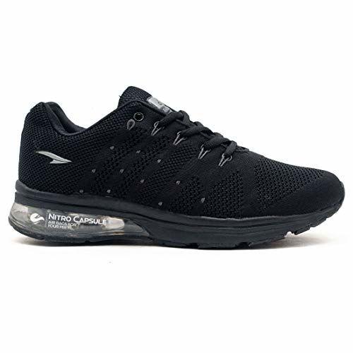 ASIAN Men's Black Running Shoes - 8 UK
