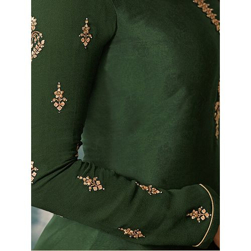Ethnic Hub embroidered semi-stitched suit