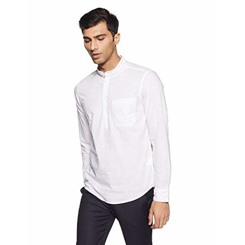 DIVERSE Men's Solid Regular Fit Casual Shirt (DCMCF03RC08L03-248_White_L)