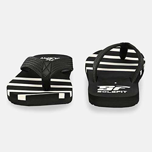 Solefit Men's Black Slippers-8 UK (42 EU) (SLFT-0015)