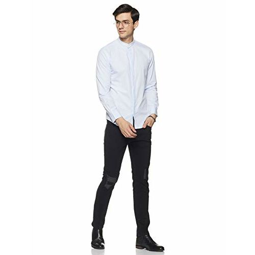 Diverse Men's Printed Slim fit Casual Shirt (DCMCF23SC24L05-3136A_ Blue M)