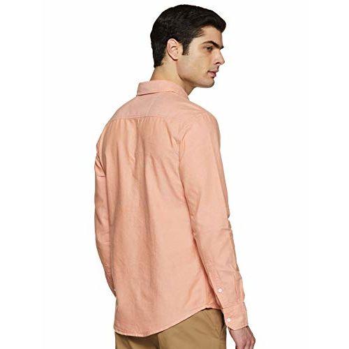 Diverse Men's Solid Slim fit Casual Shirt (DCMCF14SC14L32-3275B_ Orange XXL)