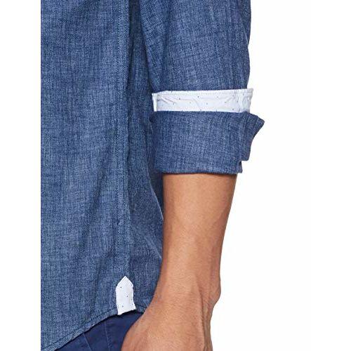 Diverse Men's Striped Slim fit Casual Shirt (DCMCF21SC24L05-3083_Blue 2XL)