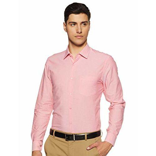 Diverse Men's Solid Regular fit Formal Shirt (DCMFF02RC09L03-774_Pink 40)