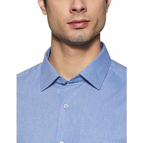 Diverse Men's Solid Regular fit Formal Shirt (DCMFF01RC11L31-3487_Blue 40)