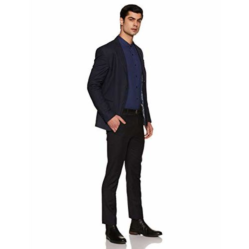 Diverse Men's Solid Regular fit Formal Shirt (DCMFF13RC11L32-3613B_Dark Blue 44)