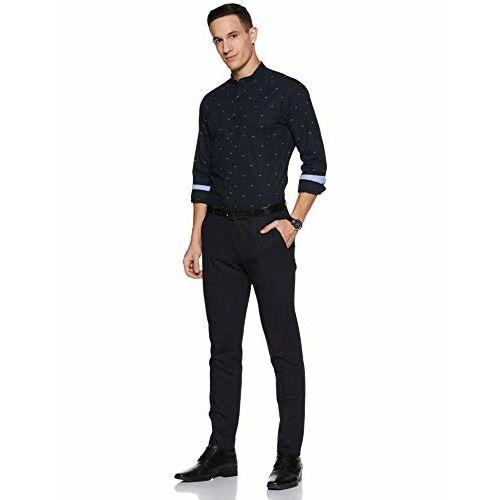Diverse Men's Printed Regular fit Formal Shirt (DCMFF13RC11L32-3626_ Navy 44)