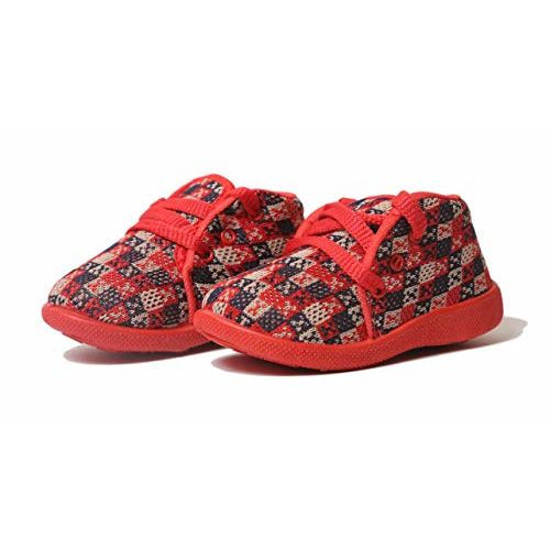 SMARTOTS Unisex-Baby's Dark Red Casual Shoes -9-12 Months