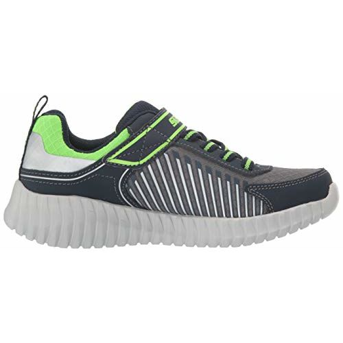 Skechers Boy's Elite Flex-Spectropulse NVY/Charcoal Sneakers-11 UK (12 US) (97894L-NVCC)