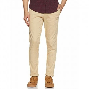Diverse Men's Slim Fit Casual Trousers (DCMCT43SC19L32-1100C_Cream_34W x 33L)