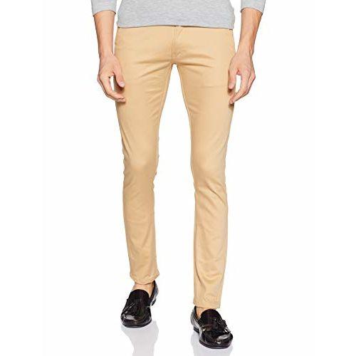 Diverse Men's Slim Fit Casual Trousers (DCMCT14SC19L31-1039A_Cream_32)