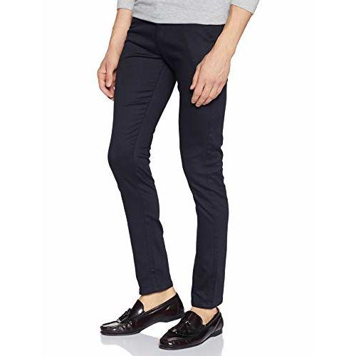 Diverse Men's Slim Fit Casual Trousers (DCMCT14SC19L31-1039D_Navy Blue_34)