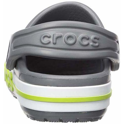 crocs Unisex's Bayaband Clog K Charcoal Sandals-4 Kids UK (C4) (205100-025)