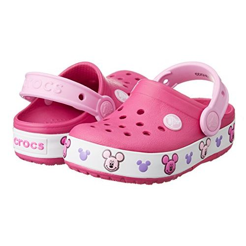 crocs Unisex's Mickey Candy Pink Clogs-7 Kids UK (C7) (203072)