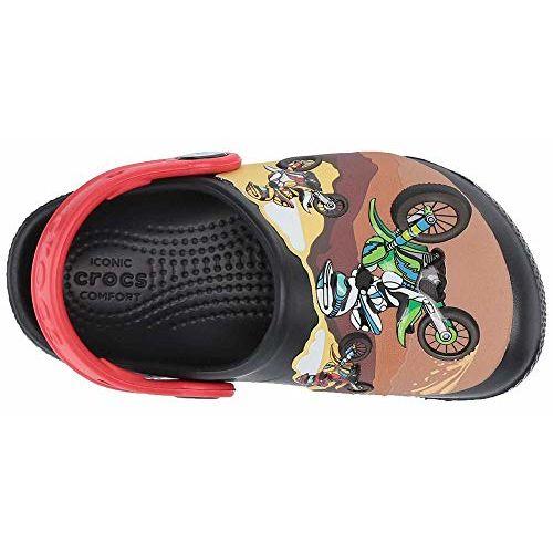 crocs Unisex's Black Sandals-4 Kids UK (C4) (205518-001)