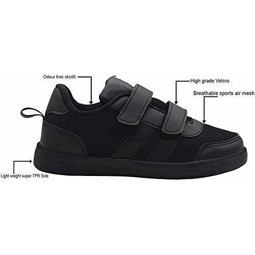 SKUDO Unisex-Child Black Uniform Shoes -13 Kids UK