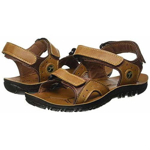 PARAGON Boys Tan P-Toes Casual Sandals