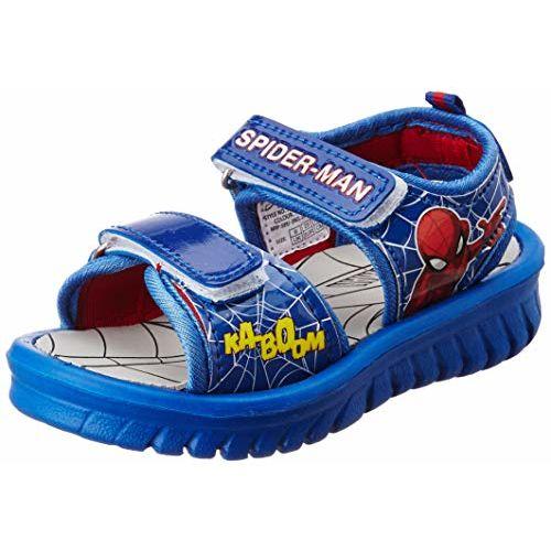 Spiderman Blue Boy Sandals-10 Kids UK/India (28 EU) (STY-18-19-001578)