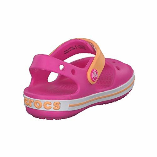 crocs Unisex Kid's Electric Pink/Cantaloupe Outdoor Sandals-13 UK (30.5 EU) (13 US) (12856-6QZ)