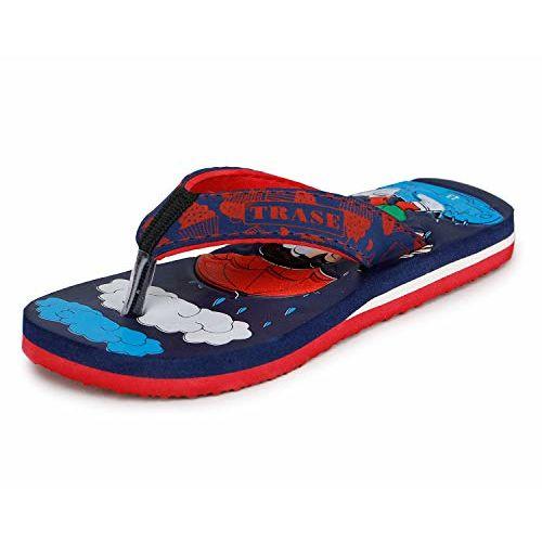 TRASE TS85-001 Navy Red Boys Girls Slippers Flip Flops - 3 UK