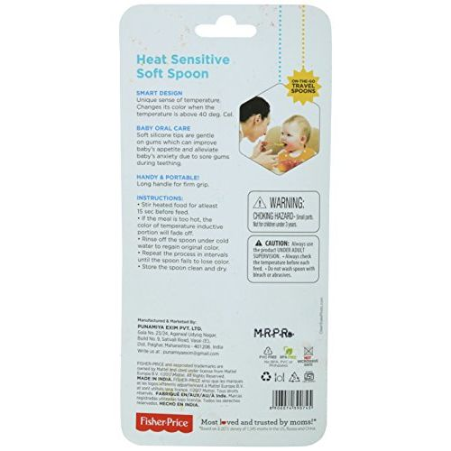 Fisher-Price Fisher Price Heat Sensitive Soft Spoon for Baby, Pack of 1 (Blue)
