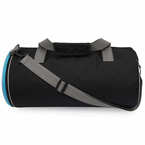 SFANE Duffel Gym Bag,Shoulder Bag for Men & Women with Separate Shoe Compartment (Sky Blue,Black)