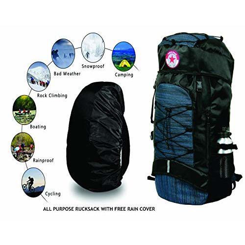 POLESTAR Flyer Navy 55 ltrs Rucksack for Hiking Trekking/Travel Backpack