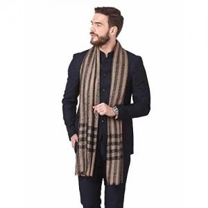 Pashtush Woven Mens Wool Stole, Mens Muffler, Warm Cashmere Feel