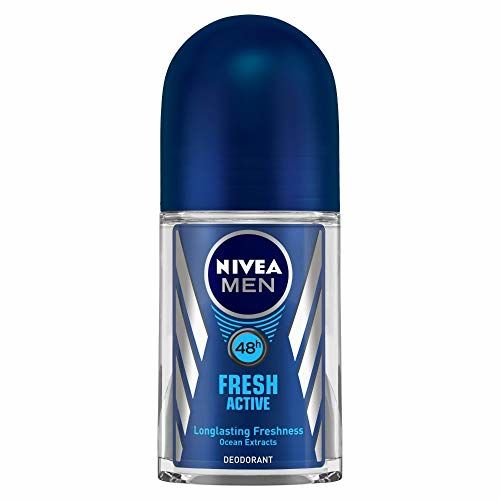 NIVEA Men Deodorant Roll-On, Fresh Active Original, 50ml And NIVEA Men Deodorant, Duo Deodorizer Active Fresh, 100ml