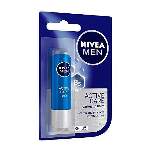 NIVEA Men Face Wash, Oil Control, 10x Vitamin C, 150ml And NIVEA Men Lip Care, Active Care Lip Balm, SPF 15, 4.8g