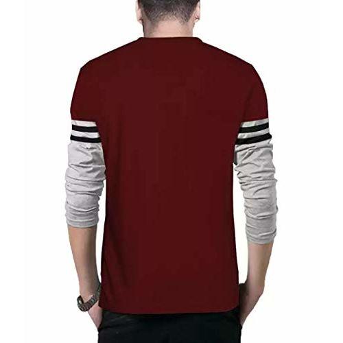 BLIVE Men's Round Neck Full Sleeves T-Shirt Multi-Coloured