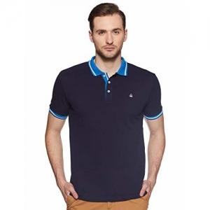 United Colors of Benetton Men's Plain Regular fit Polo (19P3089J1111I_B15_S_Navy Blue