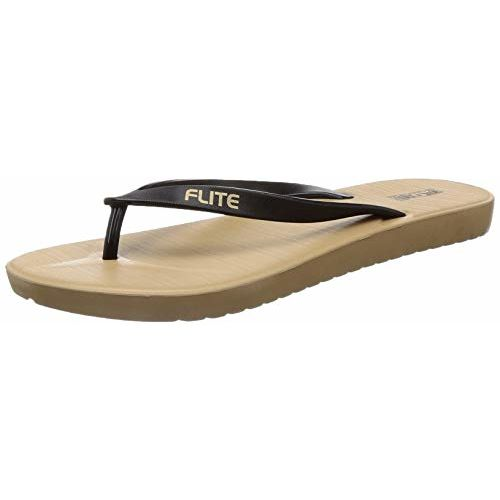 FLITE Women's Dark Beige Black Slippers-3 UK (35.5 EU) (FL0349L_BDBK0003)