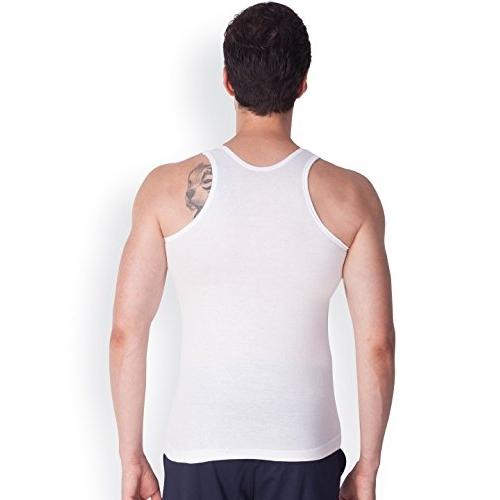 LUX VENUS White Cotton Solid Vests (Pack Of 6)
