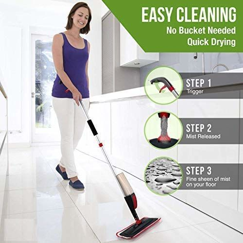 Generic Style As Best 360 Degree Easy Floor Cleaning Aluminium Spray Mop
