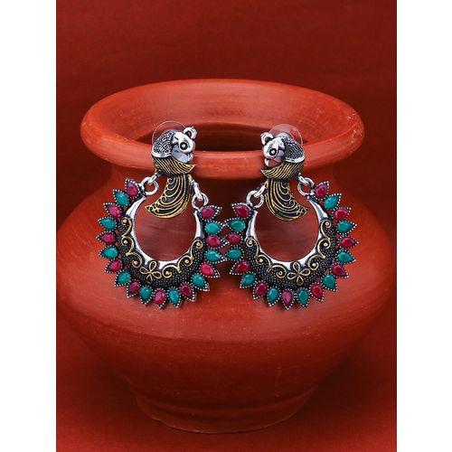 Sukkhi pink brass chandballi earring