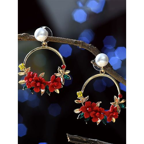 MIZORRI red metal drop earring