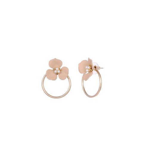 PARADISE JEWELS gold metal drop earring