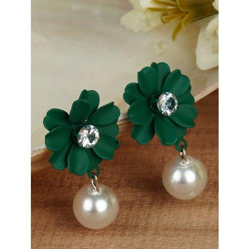 MIZORRI green metal drop earring